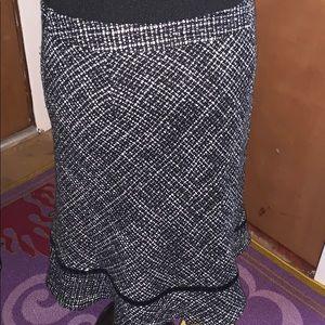 GAP Skirts - Gap black and white wool skirt size 8